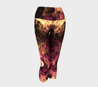 Gold and pink curling fractal yoga capris preview
