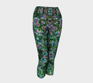 Emerald Gemstone Stained Glass Yoga Capris preview