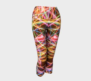 Christmas Light Trails Yoga Capris aperçu