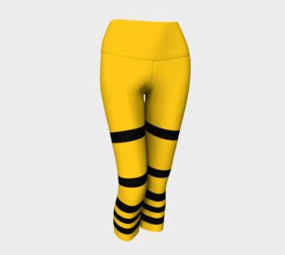 Aperçu de Yinz Black and Yellow Yoga Capris