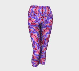 Valentine Diamond Mosaic Yoga Capris II preview