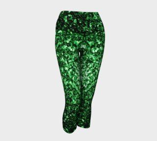 Beautiful Glamour Dark Green glitter sparkles aperçu
