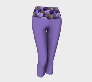 Purple Yoga Capris with Roses Band preview
