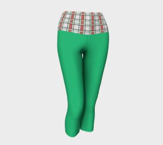 Green Yoga Capris with Classic Plaid Band preview