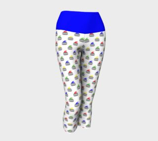 Rock Star Yoga Capris with Blue Band preview