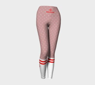BUBBLEGUM POLKA RED SOCK LEGGINGS preview