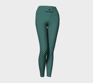 DENIM & BAMBOO LIGHT POLKA YOGA LEGGINGS preview