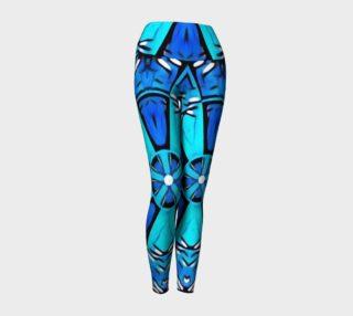 Blue Cosplay Cartoon Geek high waist leggings preview