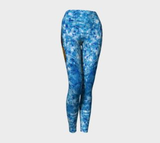 Blue Pineapple Yoga Pants preview