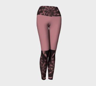Aperçu de Dusty Rose Elegant Whirl  V2 Yoga Leggings