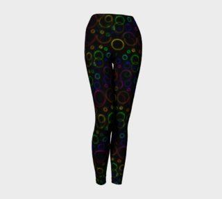 Rainbow Bubbles Yoga Pants preview