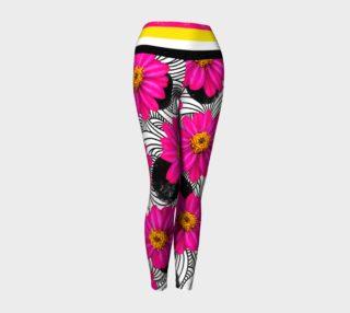Hot Floral Stripes - Yoga Leggings preview