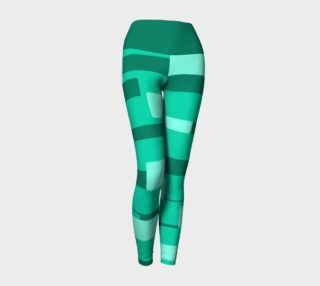 Teal Ocean Yoga Leggings preview