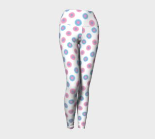 Pink and Blue Flowers Trans Pride Yoga Tights (White) preview
