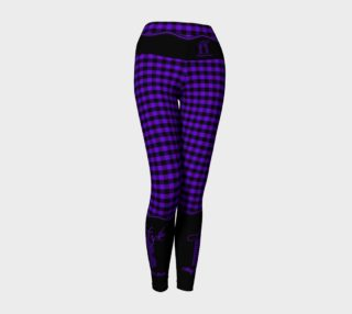 Aperçu de Attitude 13 Purple Flannel Design Yoga Leggings