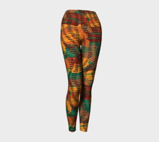 Abstract Animal Stripes Yoga Leggings preview