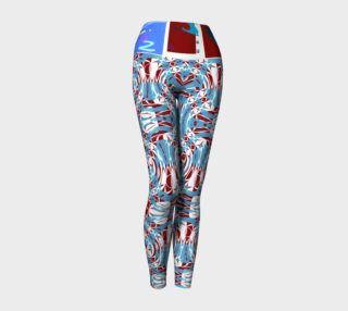 Fashion Art Central / Electro-Racer Red, White and Blue Yoga Leggings   preview