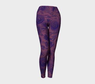 Yoga leggings Roses tremières preview