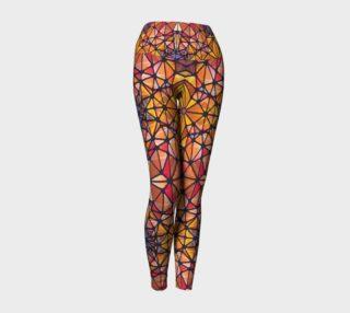 Amber Kaleidoscope Yoga Leggings preview