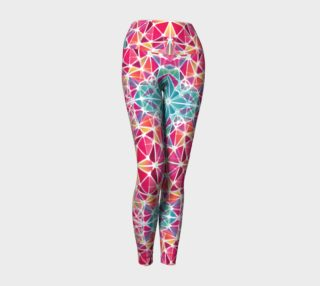 Pink and Blue Kaleidoscope Yoga Leggings preview