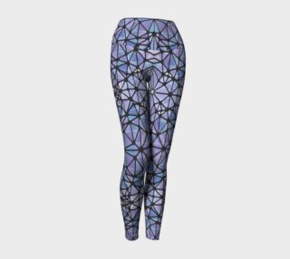 Purple and Blue Kaleidoscope Yoga Leggings preview