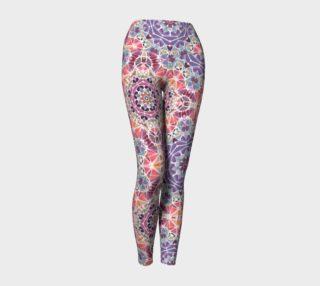 Purple and Pink Kaleidoscope Yoga Leggings preview