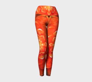Orange Lotus Yoga Leggings preview
