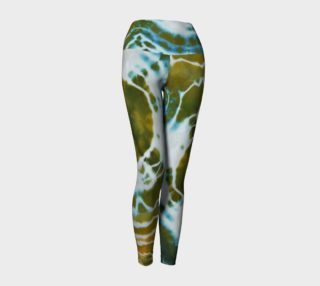Green Geode Yoga Leggings preview