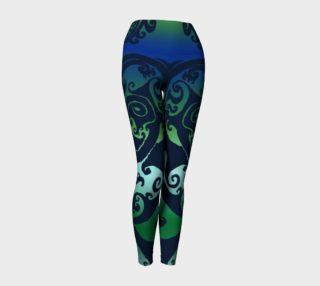 Aperçu de North Atlantic - Blue Green Ombre - Traditional Celtic Spiral Yoga Raver Pants