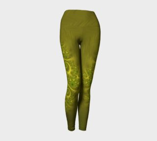 Magic Dragon Yoga Leggings - Yellow preview
