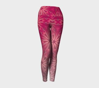 Pink & Grey Gradient Abstract Leggings preview