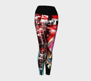 Industrial Dreams Fantasy Goth Art Yoga pants preview