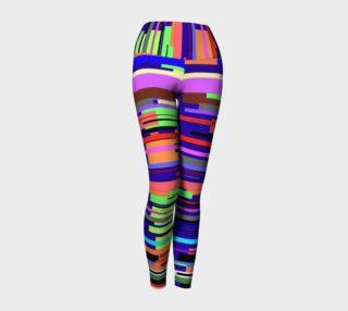 Bright Striped Yoga Leggings preview