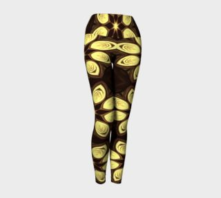 Golden Petals Yoga Leggings preview