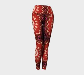 Explosion in Red Yoga Leggings preview