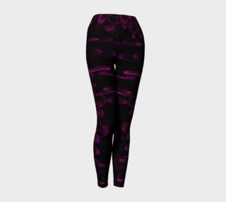 Rich Pink and Black Patterned Yoga Leggings preview