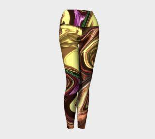 Liquid Gold Yoga Leggings preview