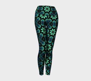Green, Blue, and Black Symmetry Yoga Leggings preview