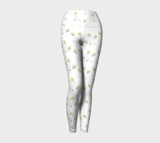 Cockatoo and wattle yoga leggings preview
