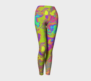 colorful abstract yoga leggings preview
