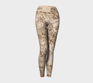Ancient Greek Map Yoga Leggings preview