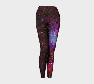 Lost in Space - Fox Fur Nebula Yoga Leggings preview