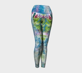 Multicolored Blue and Green Yoga Leggings preview