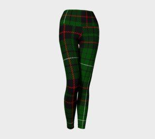 Red Green Tartan Yoga Leggings preview