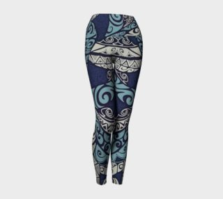 """Tribal Blues"" Yoga Leggings preview"