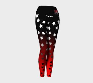 Black & Red Ombre Star Yoga Leggings preview
