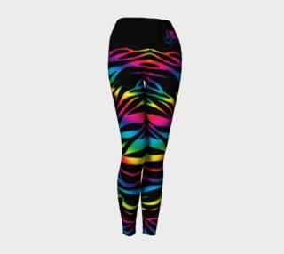 Rainbow Zebra Yoga Leggings preview