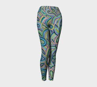 Abstract Swirls Pattern Yoga Leggings preview