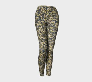 Geometric Dark Brown Camouflage Yoga Leggings preview