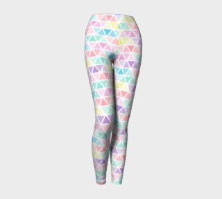 Triangles Pastel Color Yoga Leggings preview